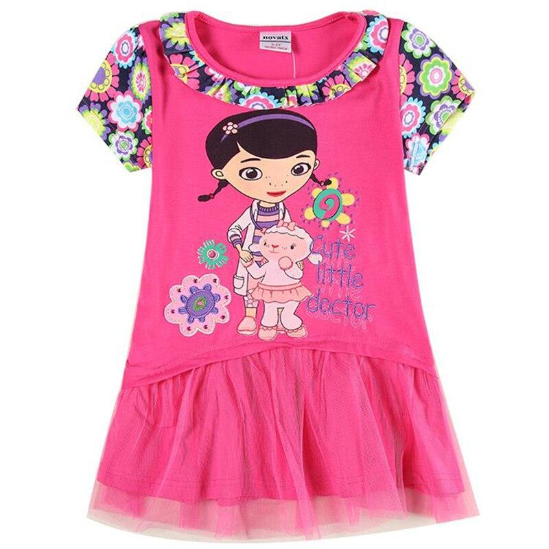 girl summer dress children clothing printed cartoon Doc Mcstuffins lace dress for girls kids nova clothing H6076<br><br>Aliexpress