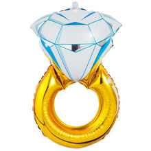 Crystal Ring Shape Balloon Engagement Wedding Supplies Foil Helium Balloon Party Festivel Decoration