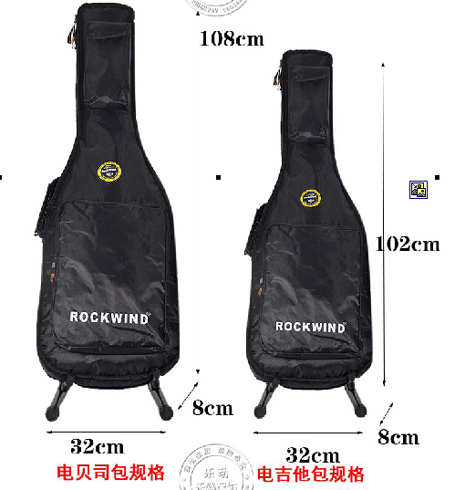 Add more cotton bags waterproof apparatus of electric guitar Oxford ROCKWIND rock and roll wind electric bass bag<br>