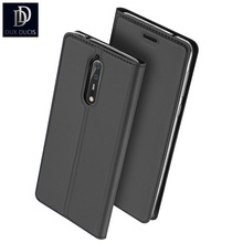 DUX DUCIS Luxury Brand Phone Case for Nokia 8 Leather Case Wallet Flip Phone Cover Coque Fundas Pouch Sleeves Closure Design