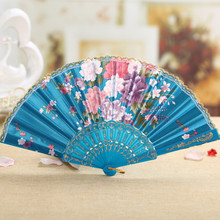 (2 pieces a lot)Japanese folding fan beautiful flowers