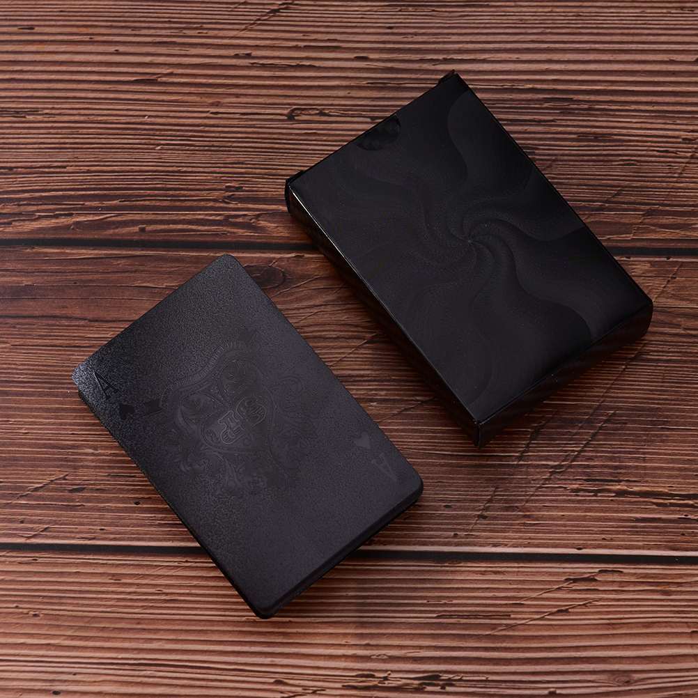 Waterproof Black Playing Cards