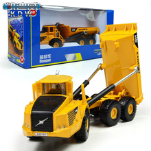 KAIDIWEI Volvo A40D Dumper Truck Engineering Vehicles 1:87 Scale diecasts & toy vehicles Alloy Car Model Collection Kids Toy