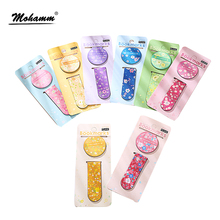 2 Pcs/lot Cute Kawaii Korean Flower Printed Magnetic Bookmark Book Mark Paper Clip Office Accessory School Supplies Stationery(China)