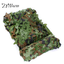 KiWarm 4x1.5m Outdoor Woodland Camo Net Military Camouflage Netting Mesh Games Hide Camouflage Net Hunting Camping Netting Cover(China)