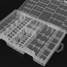 Clear Storage Box Transparent Plastic Battery Box AAA/AA/C/D/9V Hard Plastic Battery Case Holder Storage Box Battery Container(China)
