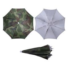 New Camouflage Foldable Headwear Sun Umbrella Fishing Hiking Beach Camping Headwear Cap Head Hats Outdoor Sport Umbrella Hat Cap(China)