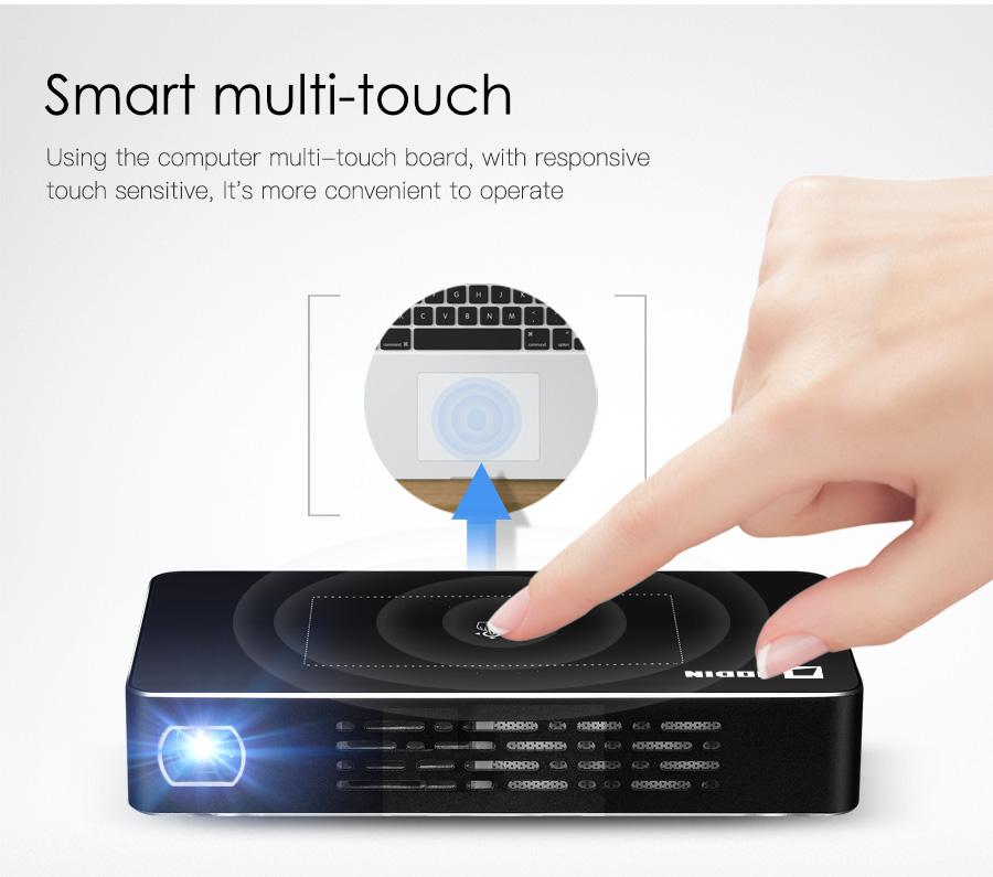 AODIN M9 mini Projector Smart Multi-touch screen1G+32G LED Portable Projectors DLP 300 lumen 5000mAh Battery HD Pocket Projector-03