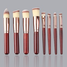 8 Pieces Makeup Brush Set Comestic Brushes with 3-Colored Bristles Bridal Eye shadow Eyebrow Brush brand new