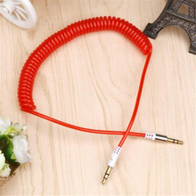 New Product Arrival High Quality Protable Cable Phone Wire 3.5mm Stereo Male To Male AUX Retractable Stretched Audio Cable