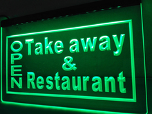 LK990- OPEN Take Away Restaurant   LED Neon Light Sign    home decor  crafts