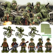 WW2 German Camouflage SS Panzer Grenadier Regiment Trooper Citadel Military Small Toy Army Figure Building Blocks Weapons(China)