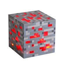 Hotsale Minecraft Light Up Redstone Ore Magic Cubes Square Toys Minecraft Touch Activate LED Night Light Diamond Ore Figure Toys