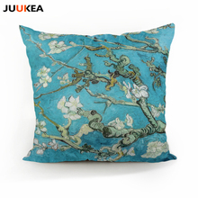 Vincent Van Gogh Blossoming Almond Tree Decorative Cushion Both Size Color Throw Pillowcase, Office Car Home Decor 45x45cm