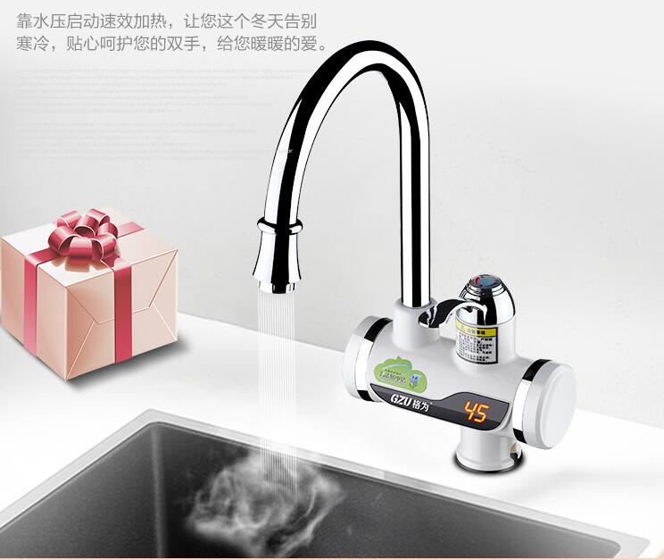 1/2 LED Digital display Faucet instant Water Heaters tankless hot water faucet 3000W<br>