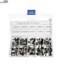 200pcs/Box TO-92 Transistor Assortment Assorted Kit  S8050 S8550 S9012 S9013 S9014 A1015 C1815 2N3904 2N3906 MJE13001  #CGKCH166
