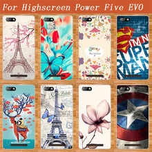 Newest Popular Soft TPU Case For Highscreen POWER Five Evo Fashion Cover Eiffel Tower Painted FOR Highscreen Power Five EVO Case