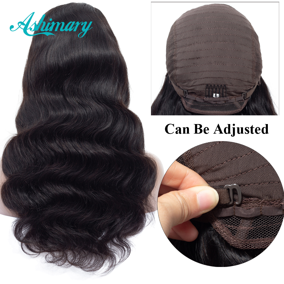 Ashimary Lace Front Human Hair Wigs 4x4 Closure Lace Wigs Remy Brazilian Hair Body Wave Wig Lace Front Wig with Baby Hair(China)