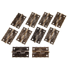 10Pcs Antique Bronze Cabinet Hinges Furniture Accessories Door Hinges Drawer Jewellery Box Hinges For Furniture Hardware 36x23mm(China)