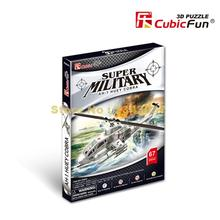 Cubicfun P603H Super Military Ah-1 Huey Cobra Snake Helicopter 3d Paper Puzzle(China)
