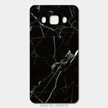 High Quality Cell phone case For Samsung Galaxy 2016 J5 J7 J3 J1 A3 A5 A7 Case Hard PC Black Marble Stone Patterned Cover