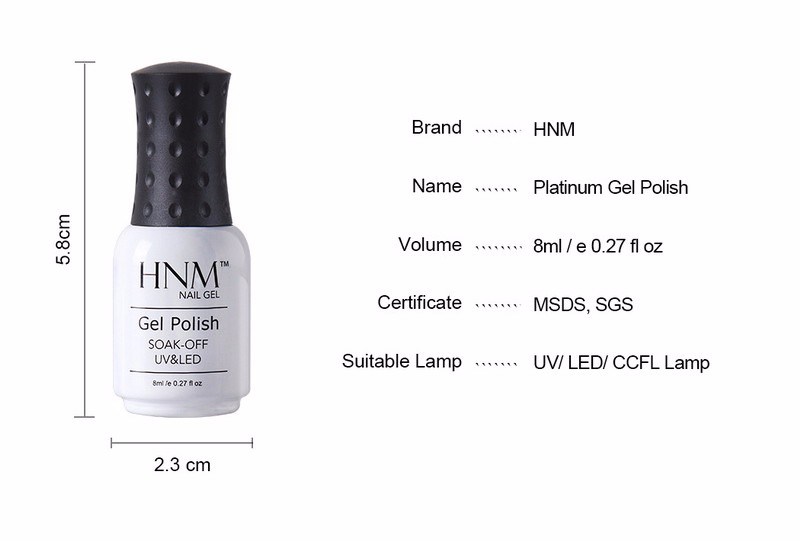 HNM 8ML Glitter UV Gel specifications