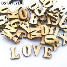 fashon English letters wedding wood crafts wooden letters number marking frame Wall Decor Home Decoration Wedding Photo Props(China)