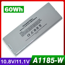 10.8V 60Wh Silver laptop Battery for Apple A1185 MA255X/A MA699
