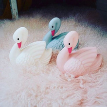 Cute swan night light LED lights children room decorative lights baby sleeping lights Creative bedside illumination lamp(China)