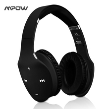 Mpow MBH7 Muze Touch Foldable Wireless Bluetooth 4.0 Headphone Stereo Headphones Headset Touch Screen Mic Handsfree Headband(China)