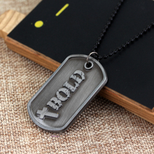 rongji jewelry new sacred Christian Jewelry Bible Lords Prayer Dog Tag men and women faith pendant long Necklace factory outlet