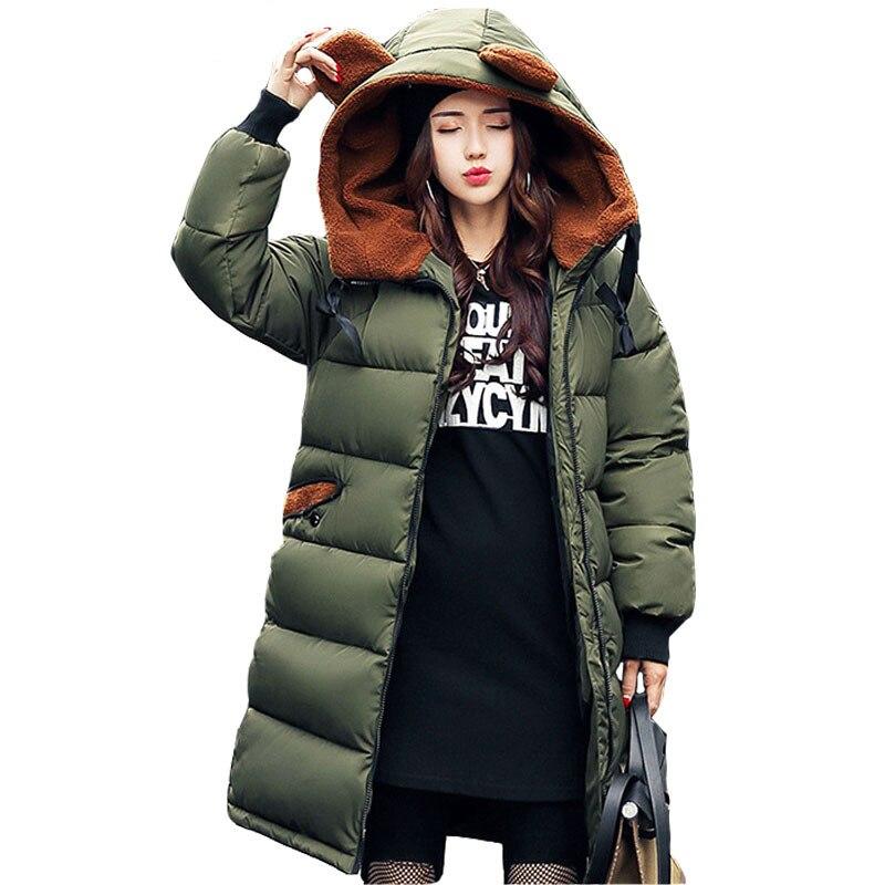 Womens Winter Jacket 2017 New Medium-long Down Cotton Female Parkas Plus Size Winter Coat Women Slim Ladies Jackets And CoatsÎäåæäà è àêñåññóàðû<br><br>