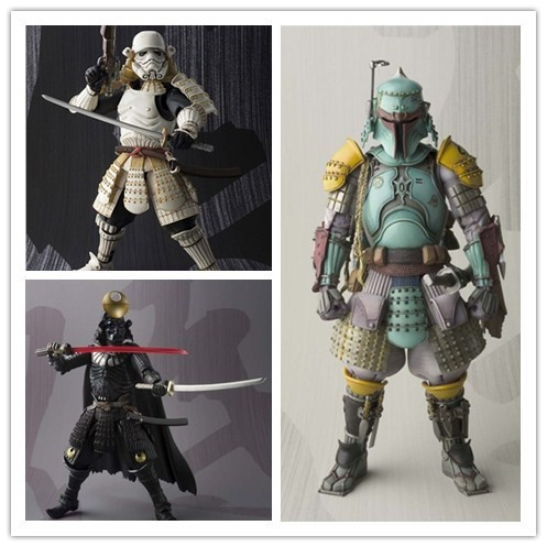 Star Wars Action Figures Boba Fett Stormtrooper Darth Vader Toy 17CM Movie Realization Star Wars Samurai Taisho Robin Model 10A<br><br>Aliexpress