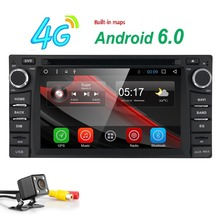 "6.2""QuadCore Android6.0 Car DVD Multimedia Video Player GPS Navigation Support DVR OBD for Toyota RAV4 Corolla Cruiser Camry SWC(China)"