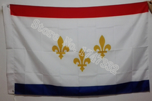 USA Louisiana New Orleans City Flag hot sell goods 3X5FT 150X90CM Banner brass metal holes