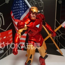 Animation Garage Kid American Superhero Model Toys: MARVEL Action Figure PVC Dolls Tony Stark New Iron Man Model Excellent Gifts