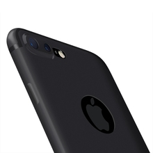 For iphone 7 plus iphone 6 Case Silicon UltraThin TPU Soft Slim Case for iphone7 iphone 6S plus Matte Back Cover Black Dust Plug