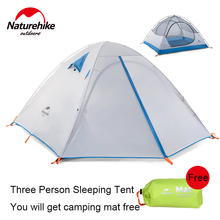 Naturehike Outdoor Double Door 2-3 Person Camping Tent Waterproof One Bedroom Beach Tent Double Layer Camping Tent 2.3kg 2 Color