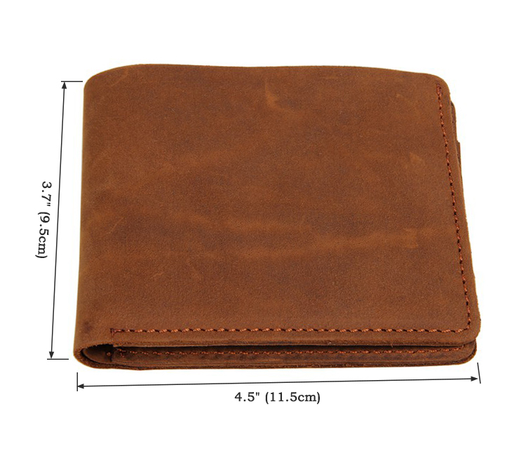 8072B JMD Genuine Crazy Horse Leather Small Wallet Pocketbook Slim Mens Wallet<br><br>Aliexpress