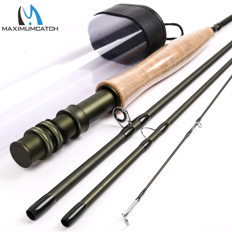 Maximumcatch Fly Fishing Rod 8.6FT 4WT Fast Action Superfine Carbon Fly Rod<br>