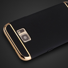 Luxury Ultra Thin Shockproof Cover Case for Samsung Galaxy S7 S6 Edge J3 J5 J7 A5 A7 2016 Grand Prime Plating PC Armor(China)