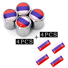 4pcs/set Metal Motorsport Car Tire Wheel Valve Caps Russia for lada suzuki lifan emgrand ssangyong car cover