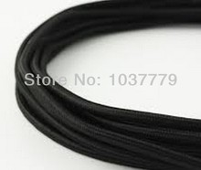 FREE Shipping 2x0.75mm2 Textile Braided Power Cable black color
