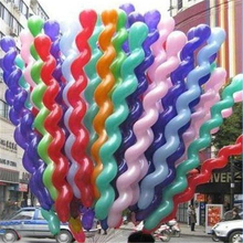New 10pcs/lot Screw Thread Latex Balloon Balls Inflatable Wedding Party Decoration Festive Supplies Mix Color(China)