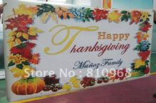 birthday banner, festival banner, Christmas Day Printing (with grommets)(China)