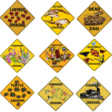 Metal Art Ladybug Crossing Vintage Metal Sign Posters Home Decor Plaques & Signs Art Poster Beer Signs Size:30*30 CM(China)