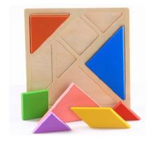 Free Shipping!Baby Toys Large Wooden Puzzle Educational Toys Tangram/Jigsaw Puzzle Toys Gift 1pc