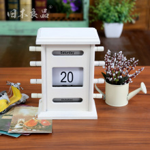 2016 Creative grocery lovely gift Creative Wood  retro  Furnishing Articles Manually Perpetual calendar