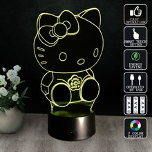 Cute Cartoon 3D Small Table Lamp LED Colorful Dream Night Lights European Students Energy Saving Personalized Creative Bedside(China)