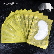 50pairs/pack PE Textured Film New Paper Patches Eyelash Under Eye Pads Lash Eyelash Extension Paper Patches Eye Tips Sticker(China)